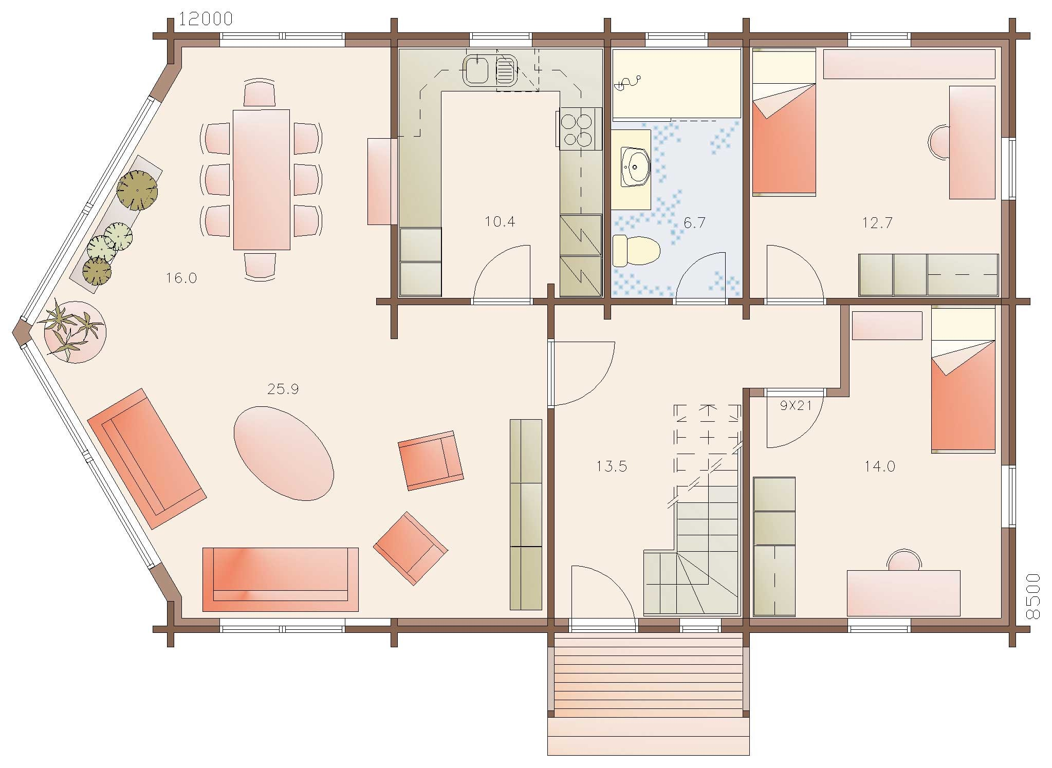 Mountain lodge homes continental 159 for Continental homes floor plans