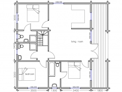 mountain lodge 3 bed alternative groundfloor plan